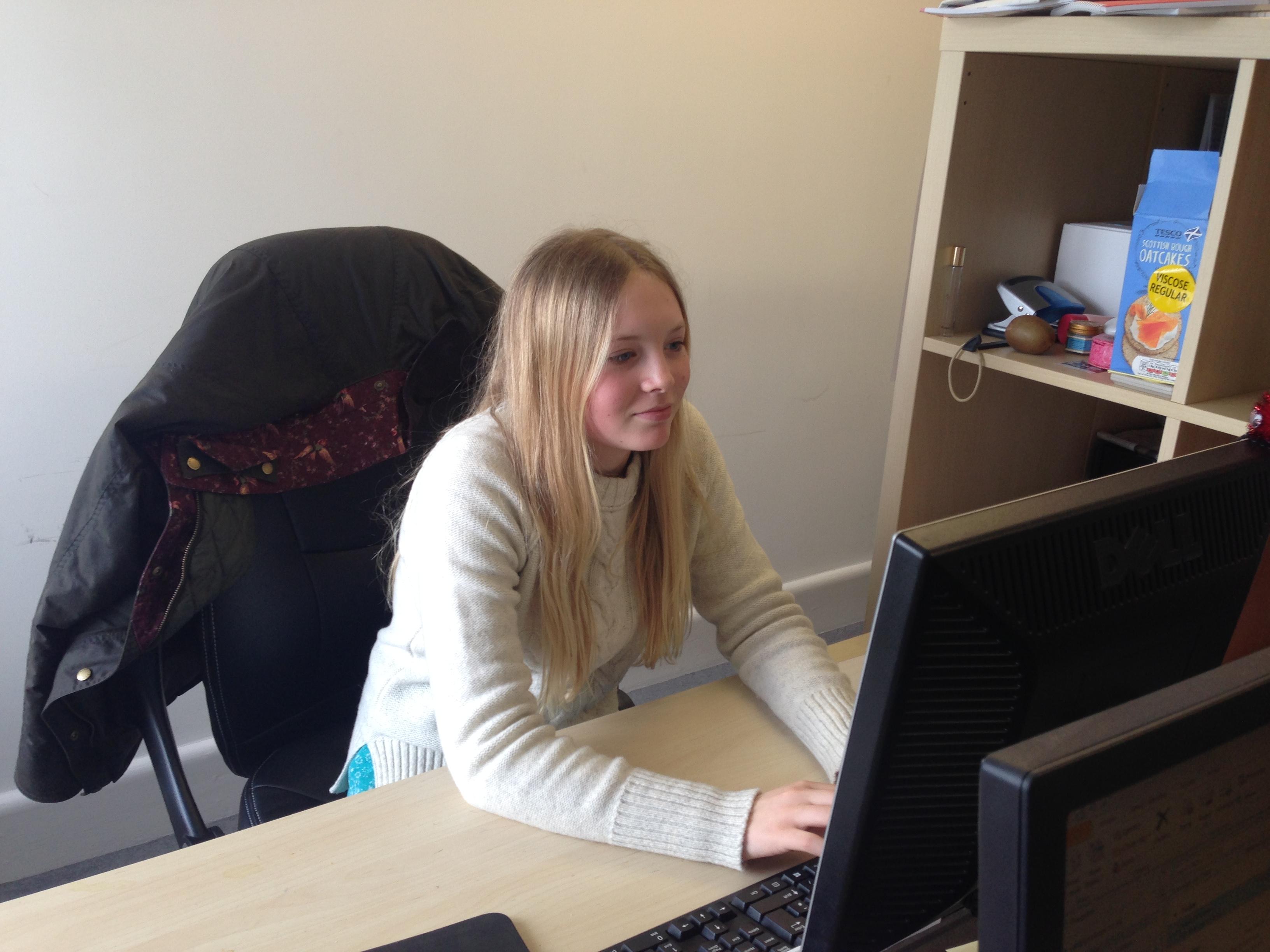 Work experience student Charlotte takes on PR, at Liz Lean PR.