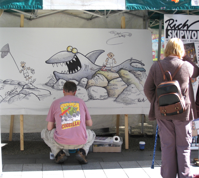 Weird Fish cartoonist and illustrator, Richard Skipworth