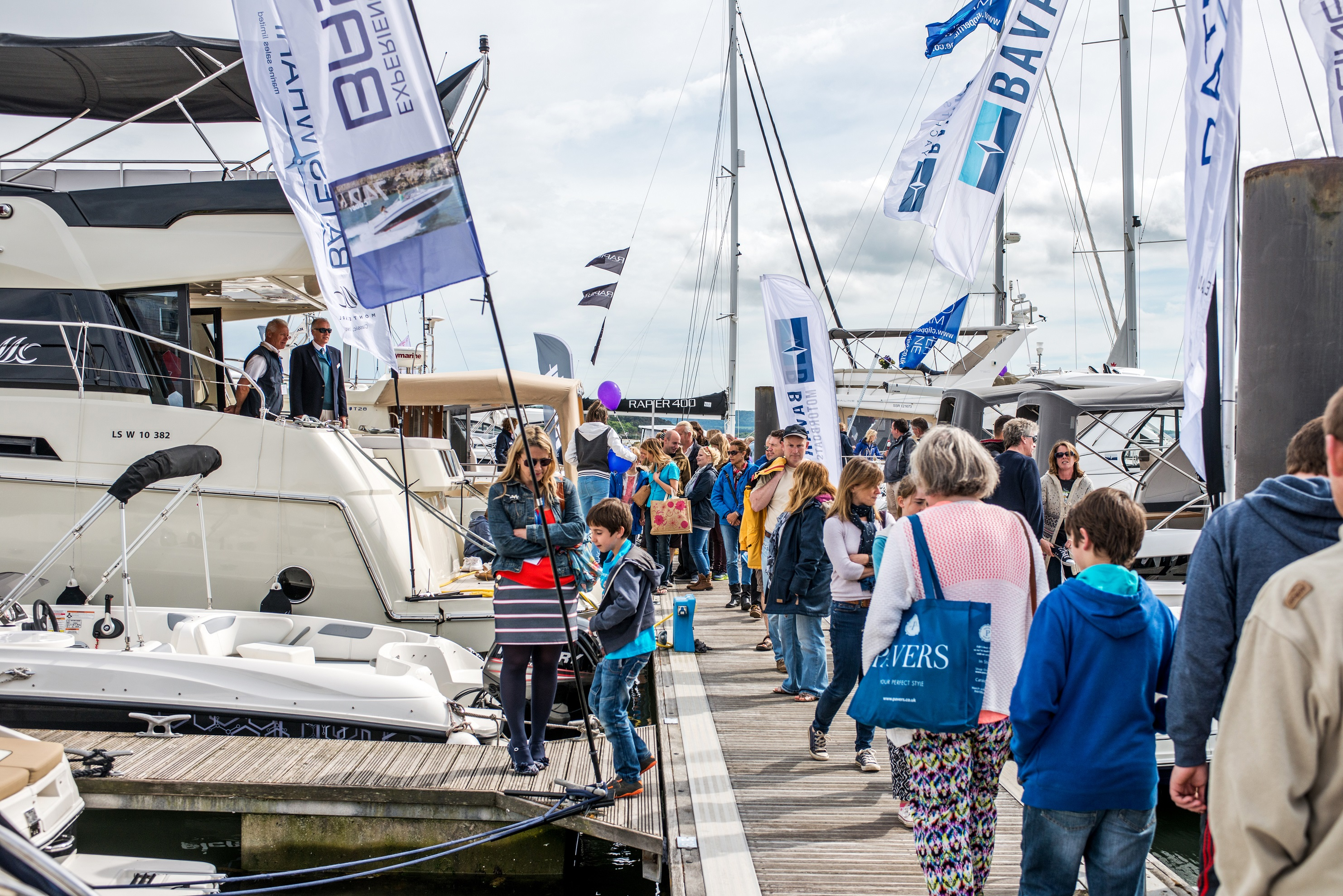 Poole Harbour Boat Show pontoons