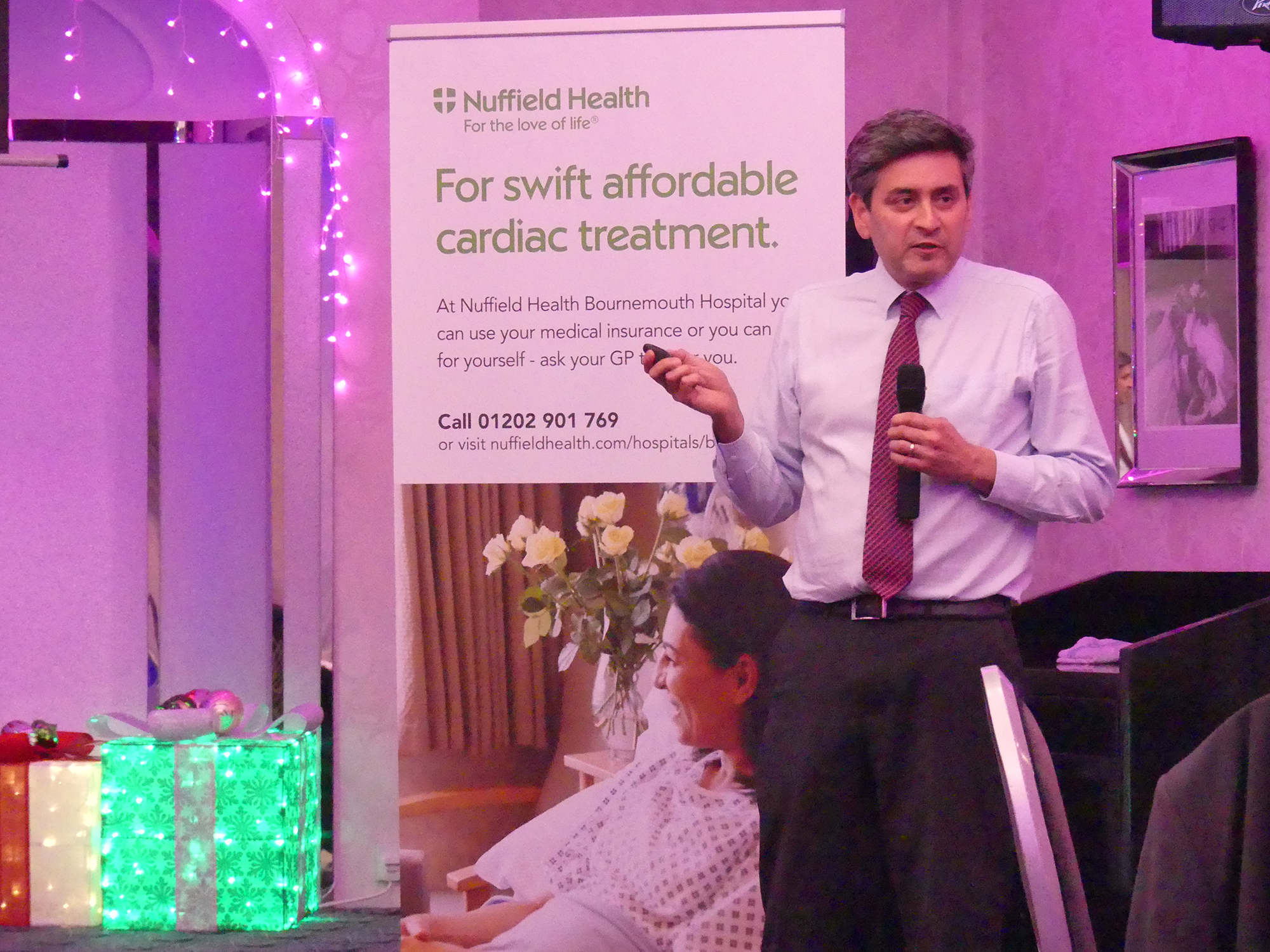Nuffield Health's cardiology consultant Dr Suneel Talwar welcomes Dorset GPs for a heart-to-heart