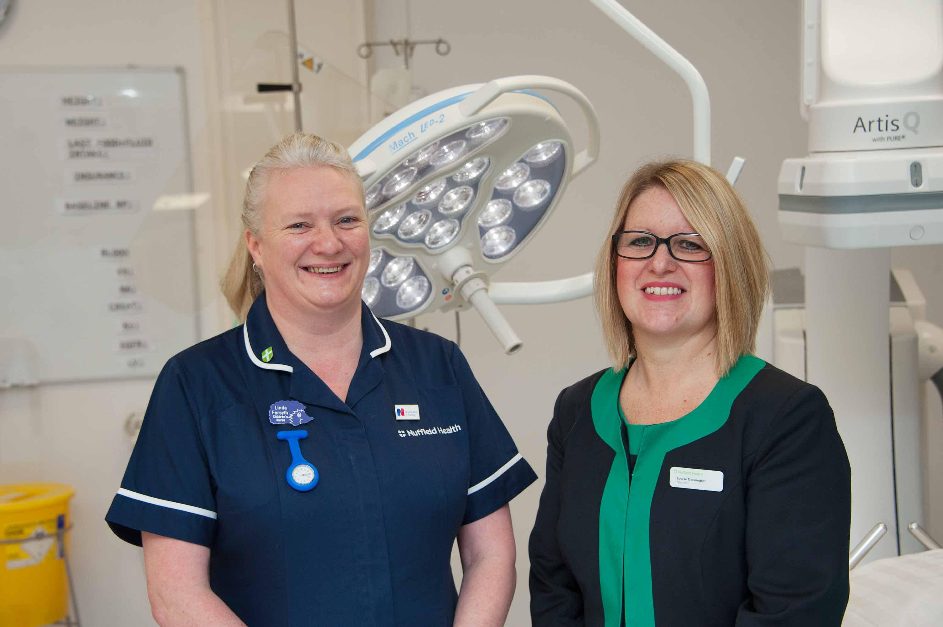 New appointments at Nuffield Health Linda Forsyth Lead Nurse CYP Services and Louise Dennington Nuffield Health Matron
