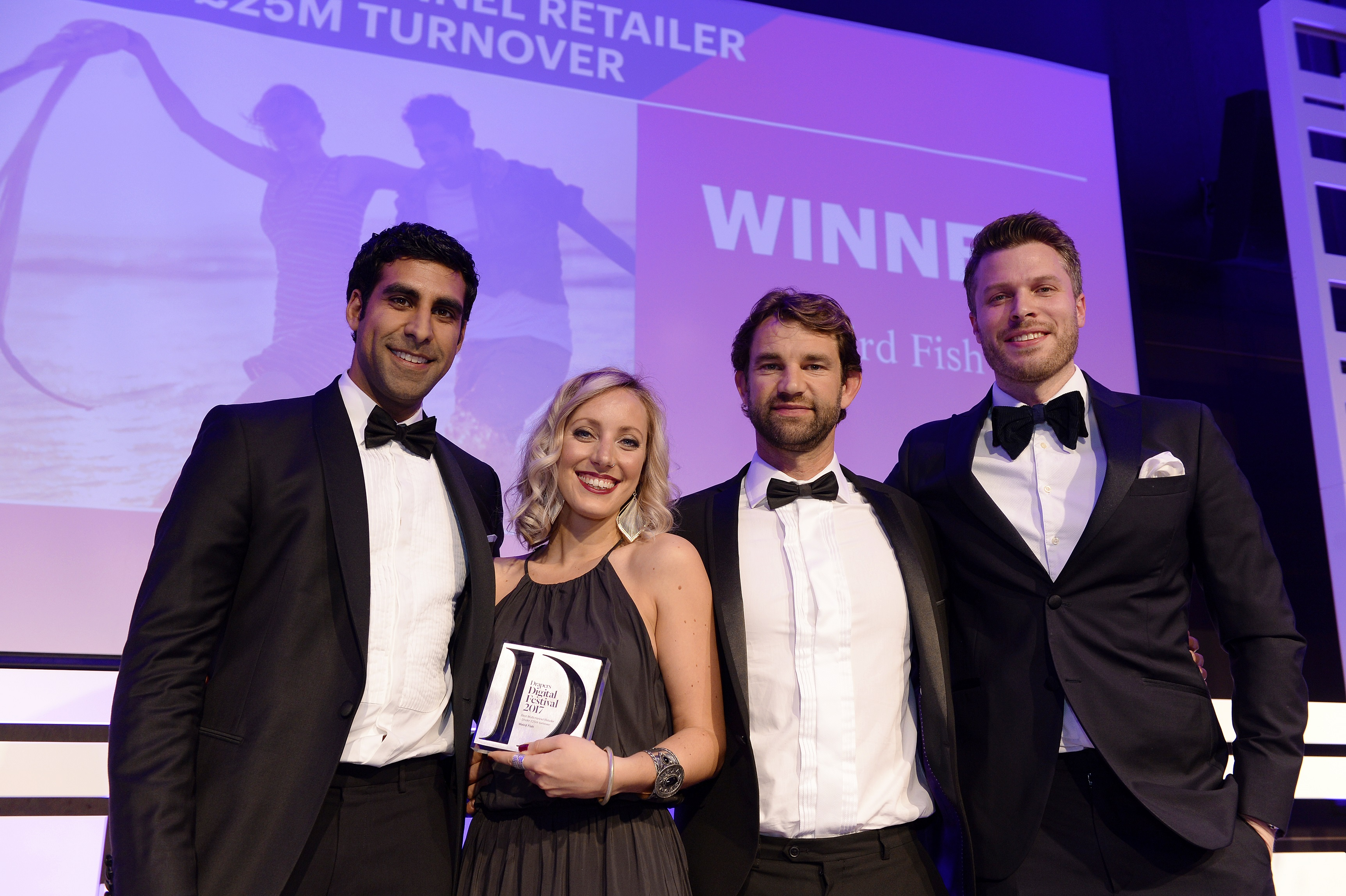 Weird Fish is celebrating after winning the award for 'Best Multichannel Retailer Under £25m Turnover' at the Drapers Digital Festival 2017.