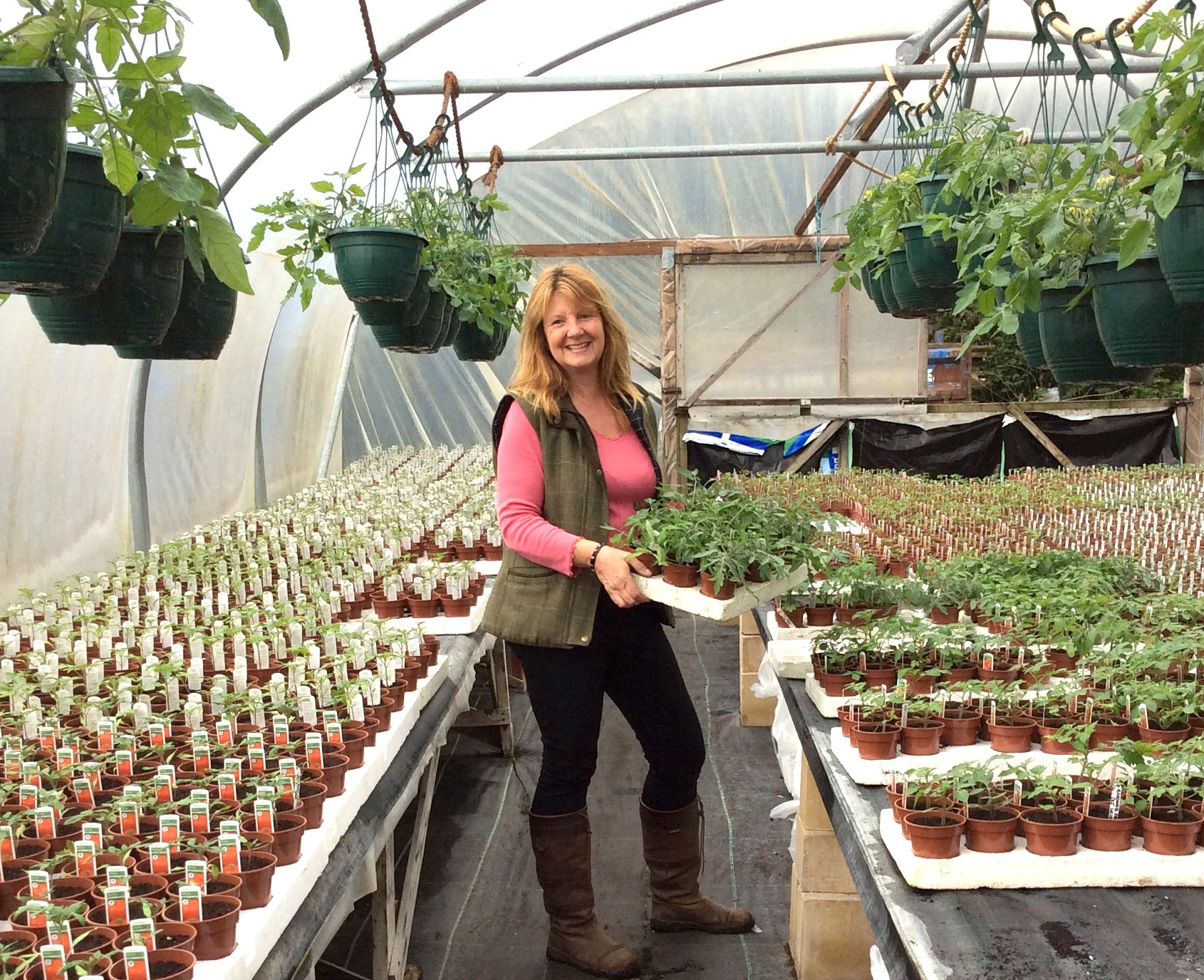 Corinne Kirkham, owner manager of Windrush Farm Growers in Wimborne, is set to visit customers at Haskins Garden Centre on Saturday April 22