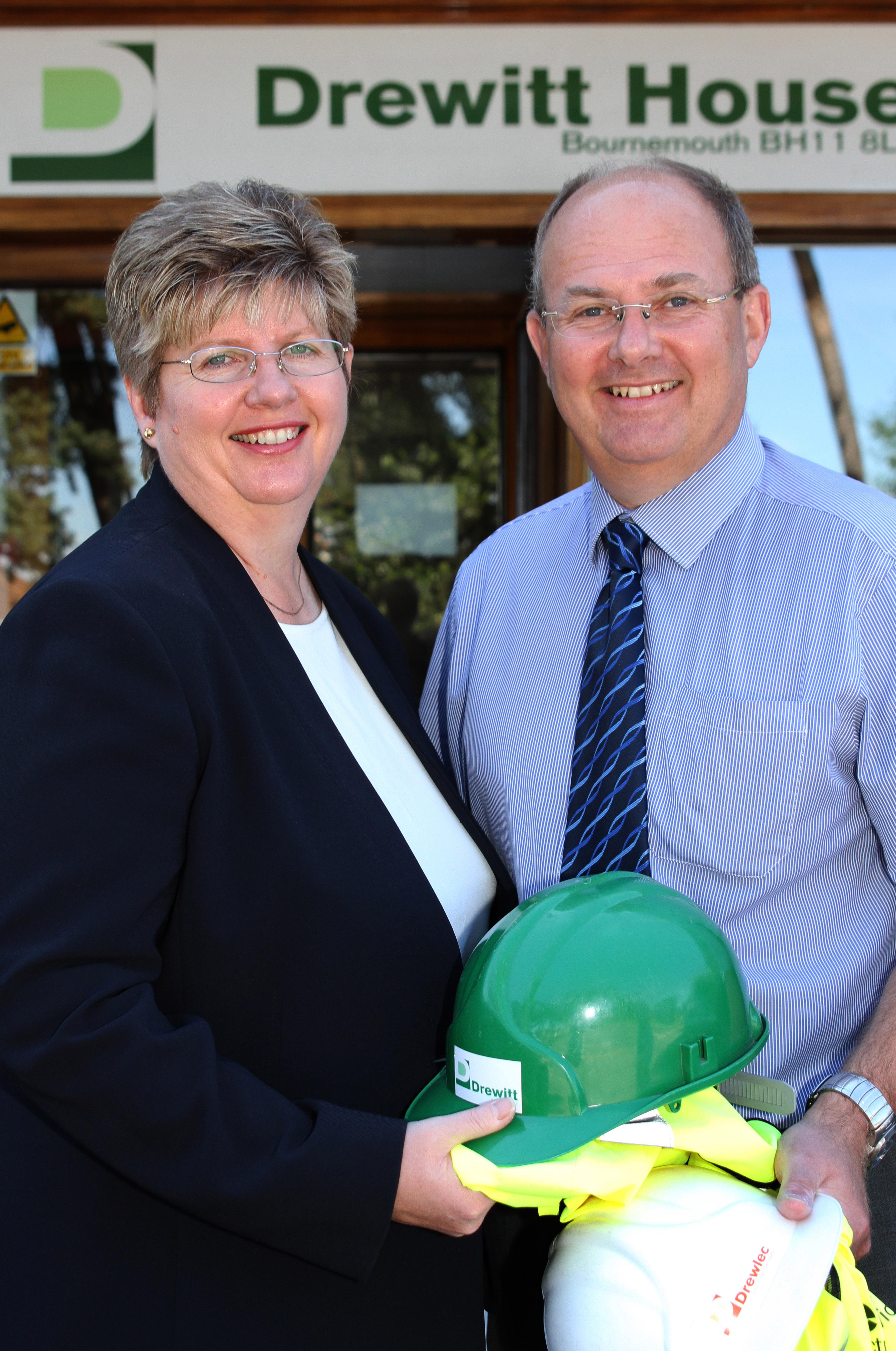Gillian and Richard Drewitt at Drewitt House