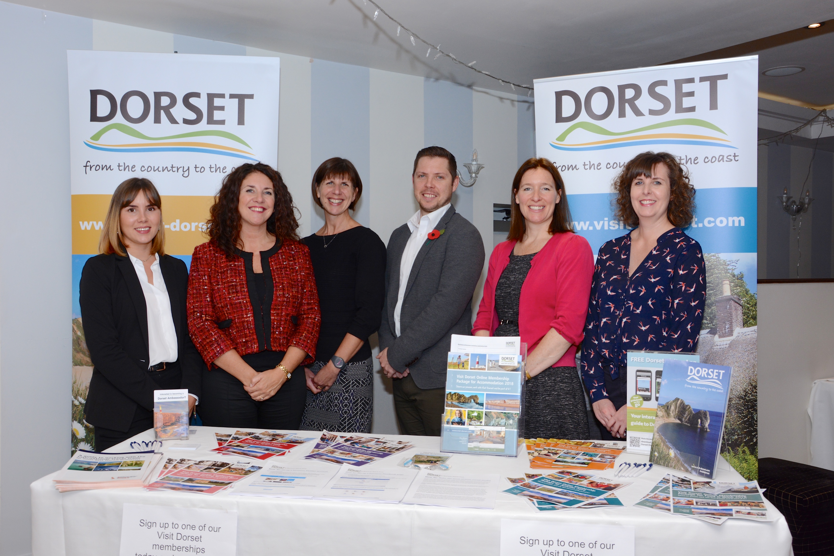 The Visit Dorset team at the digital roadshow event at The Kings Arms in Christchurch