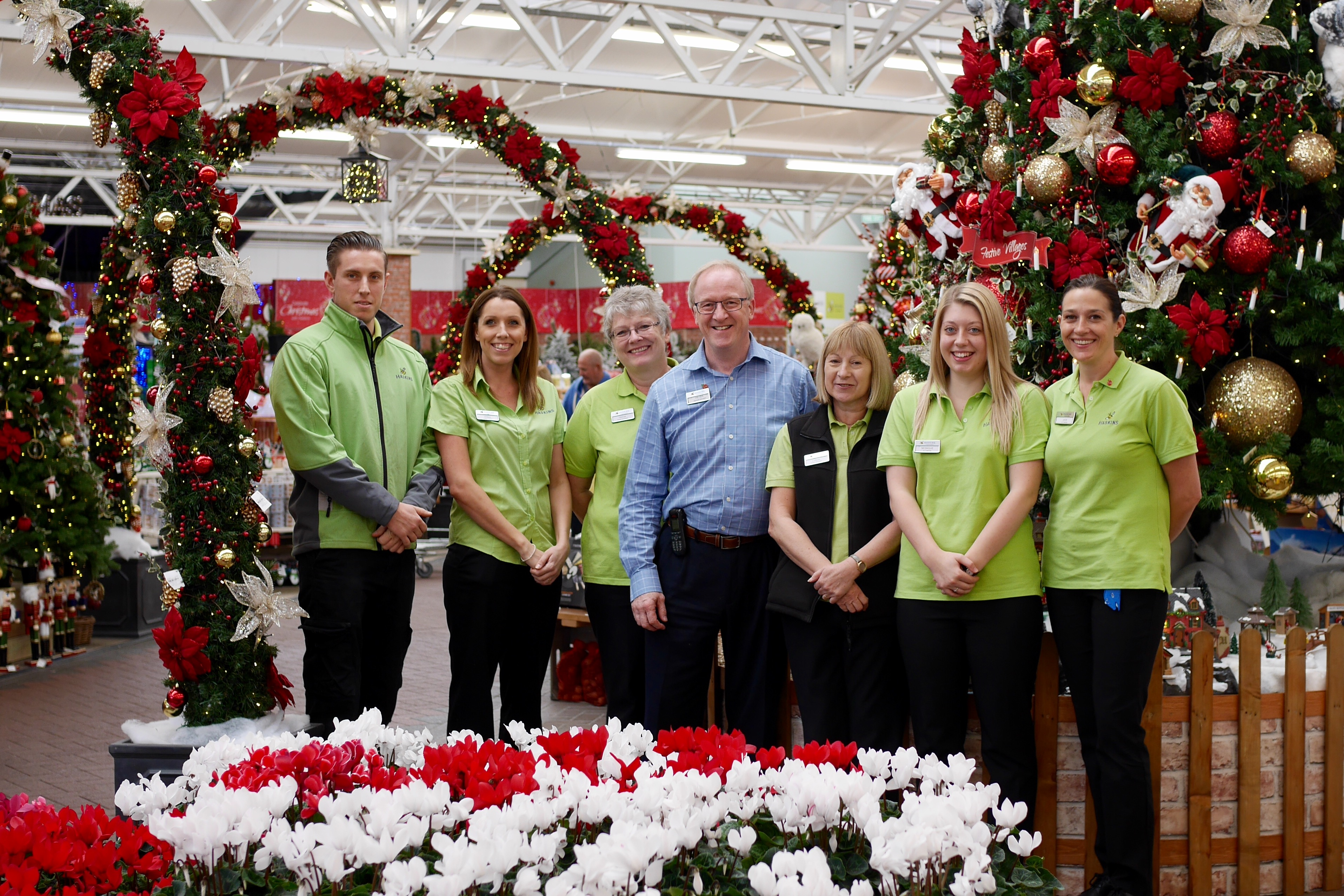 Haskins Garden Centre in Southampton celebrates its biggest Christmas department ever
