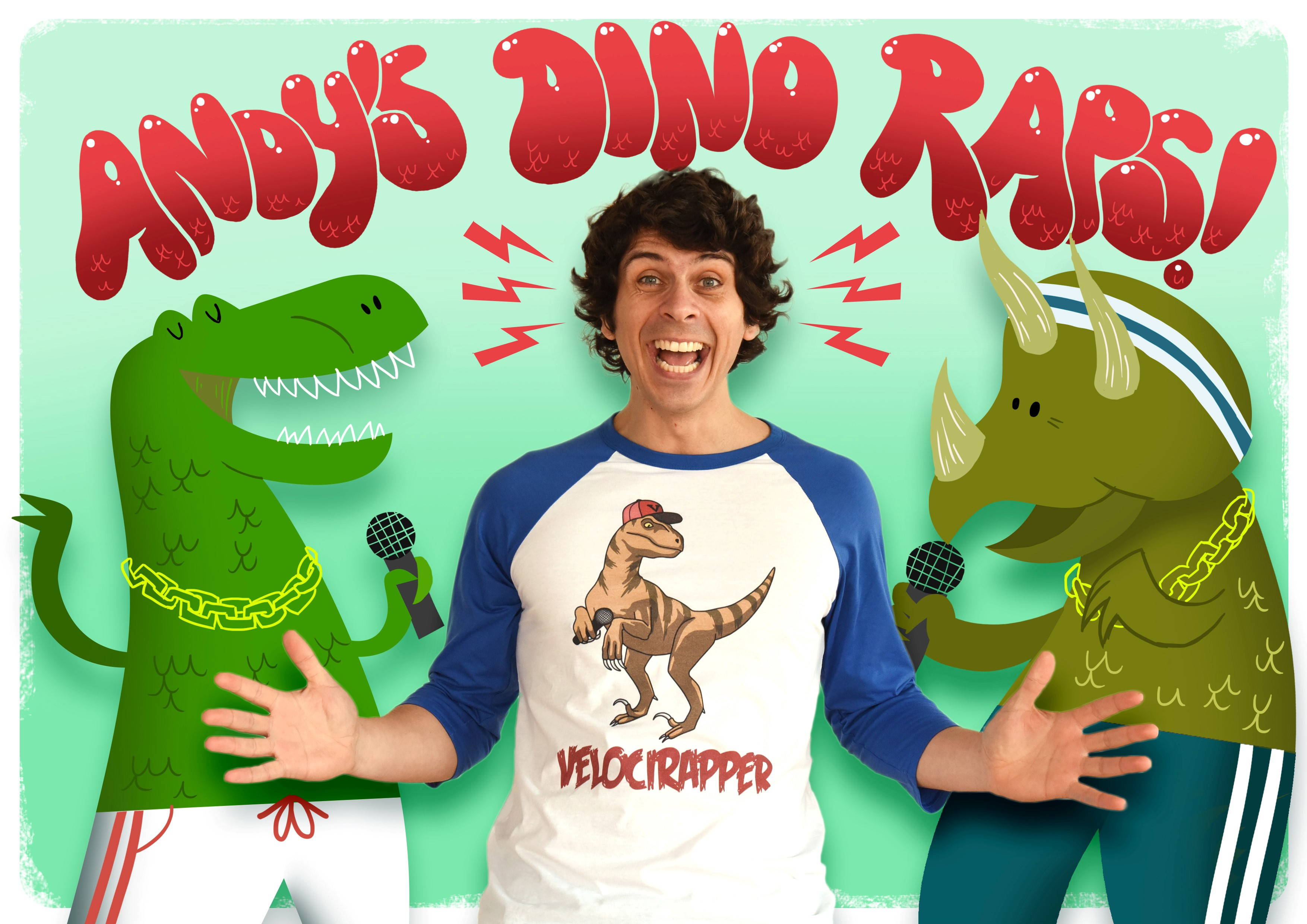 Children's TV entertainer Andy Day is set to visit Brewery Square, Dorchester, on Saturday, 31 March with two free performances of Andy's Dino Raps.