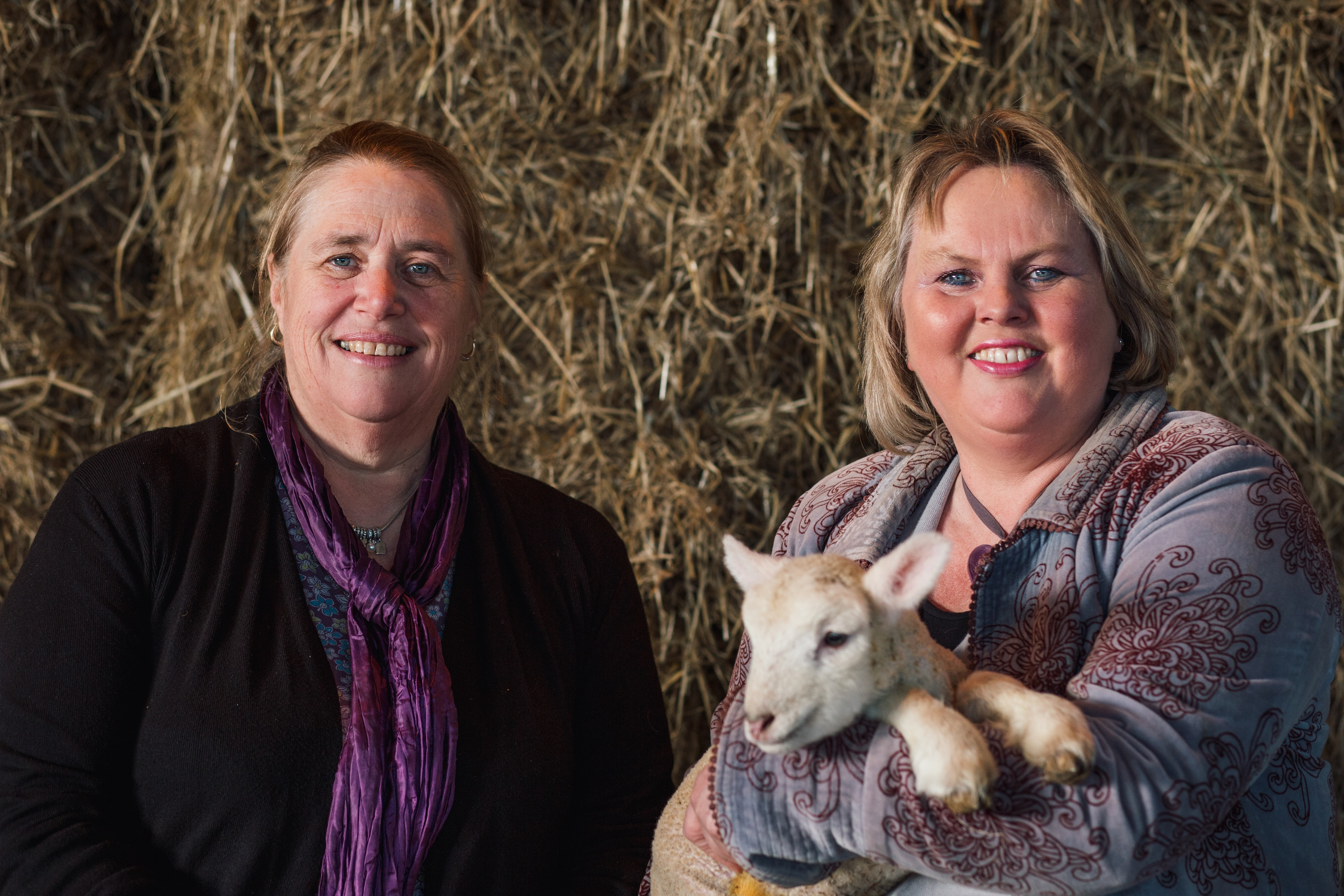 Nicola Ralph, vice-chair of Dorset Agricultural Society, and Rebecca Hill, chair of Dorset Agricultural Society