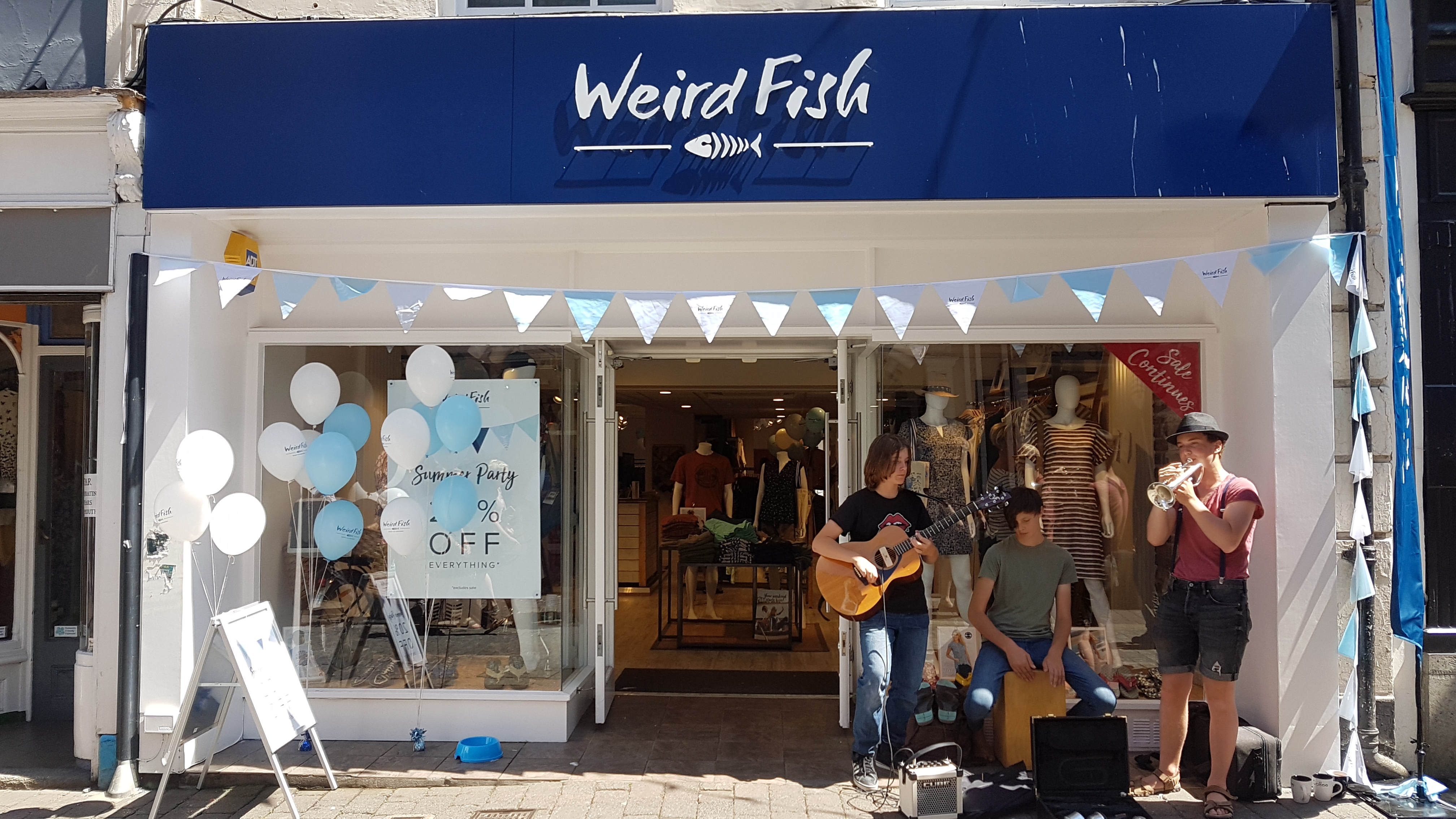 Weird Fish 'of-fish-ially' launches its Falmouth store with a Summer Party