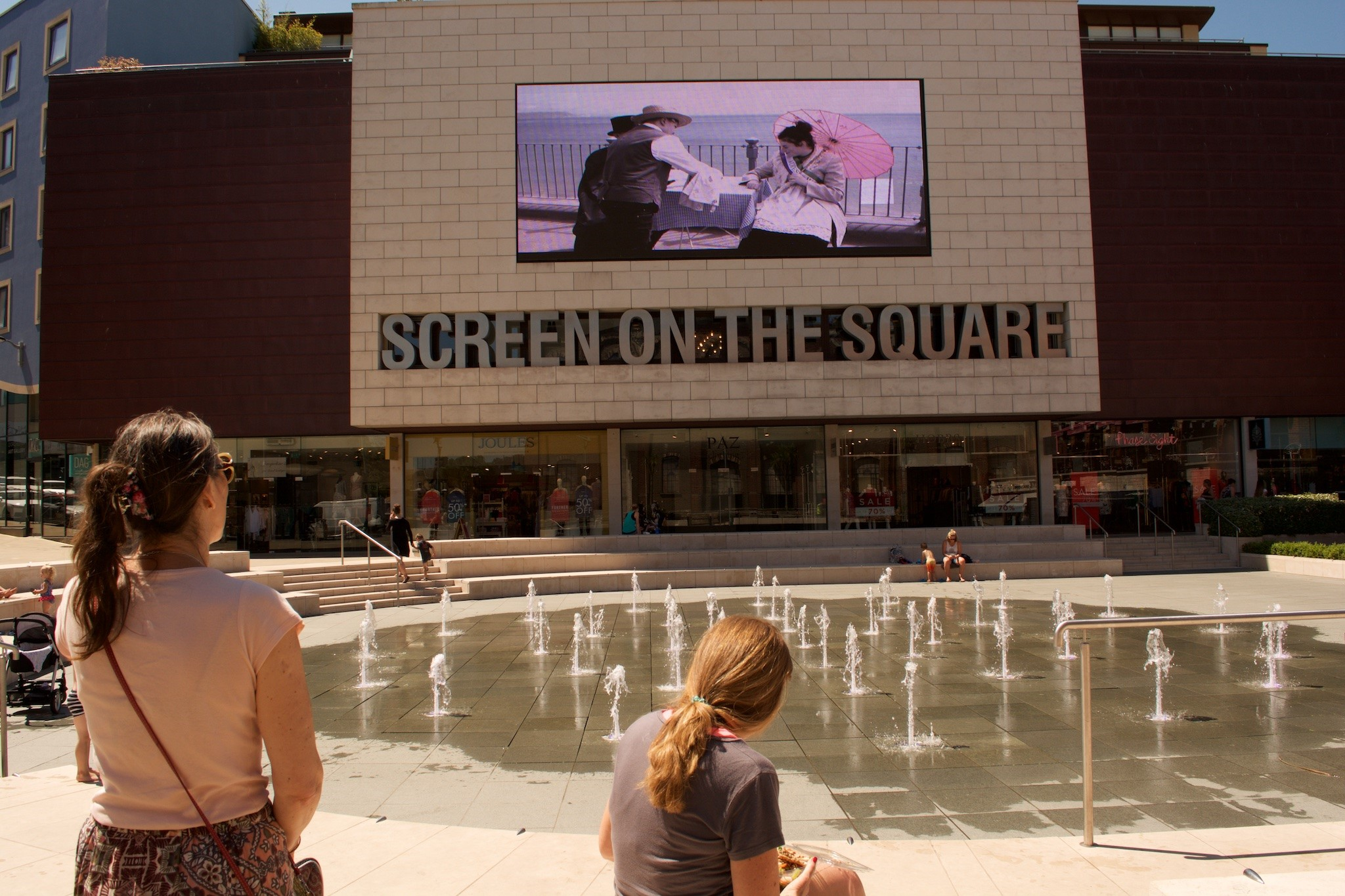 'Tea for Two' showing on the Screen on the Square