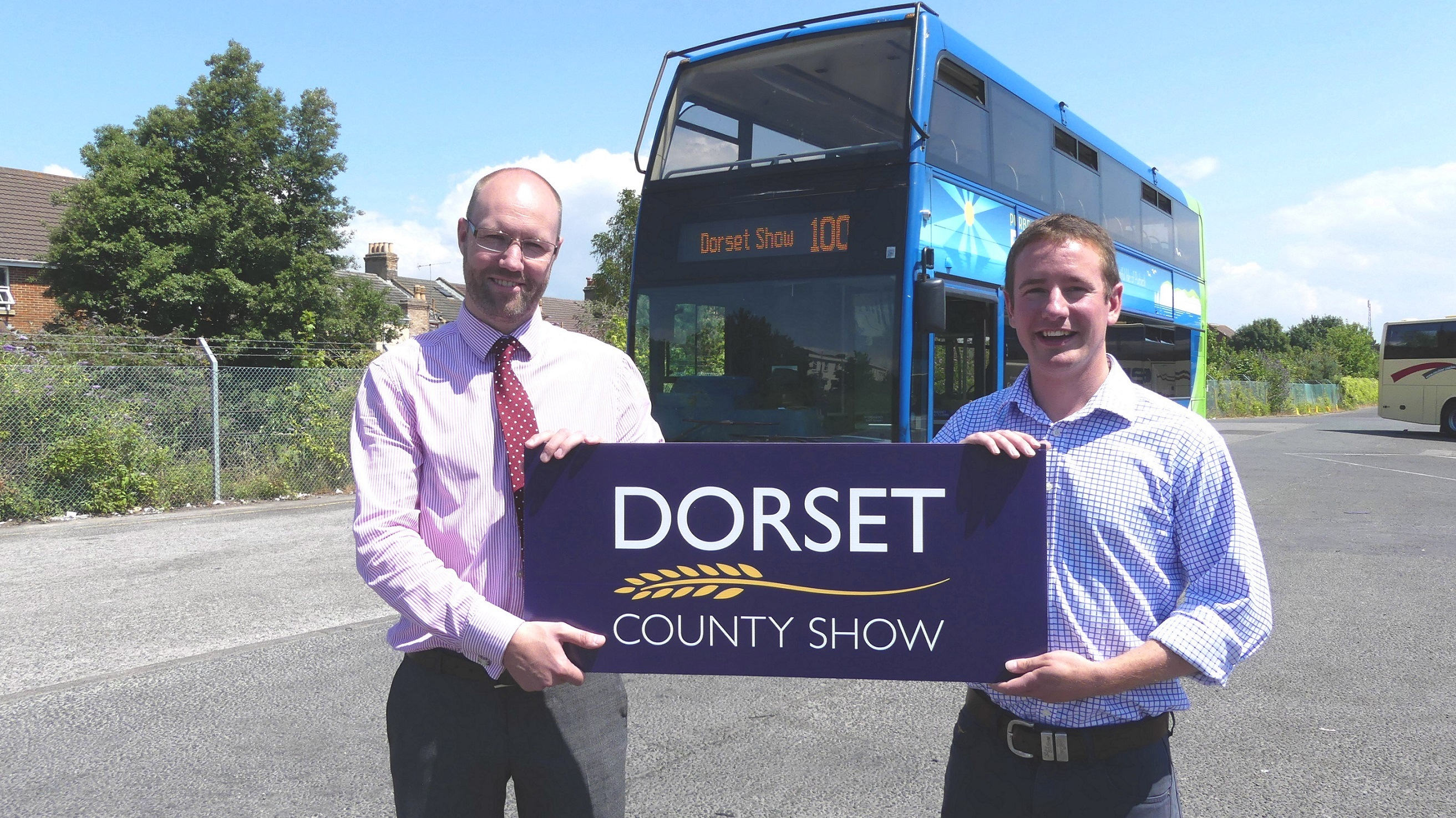 Adam Keen, general manager of Damory Coaches and Will Hyde, show secretary