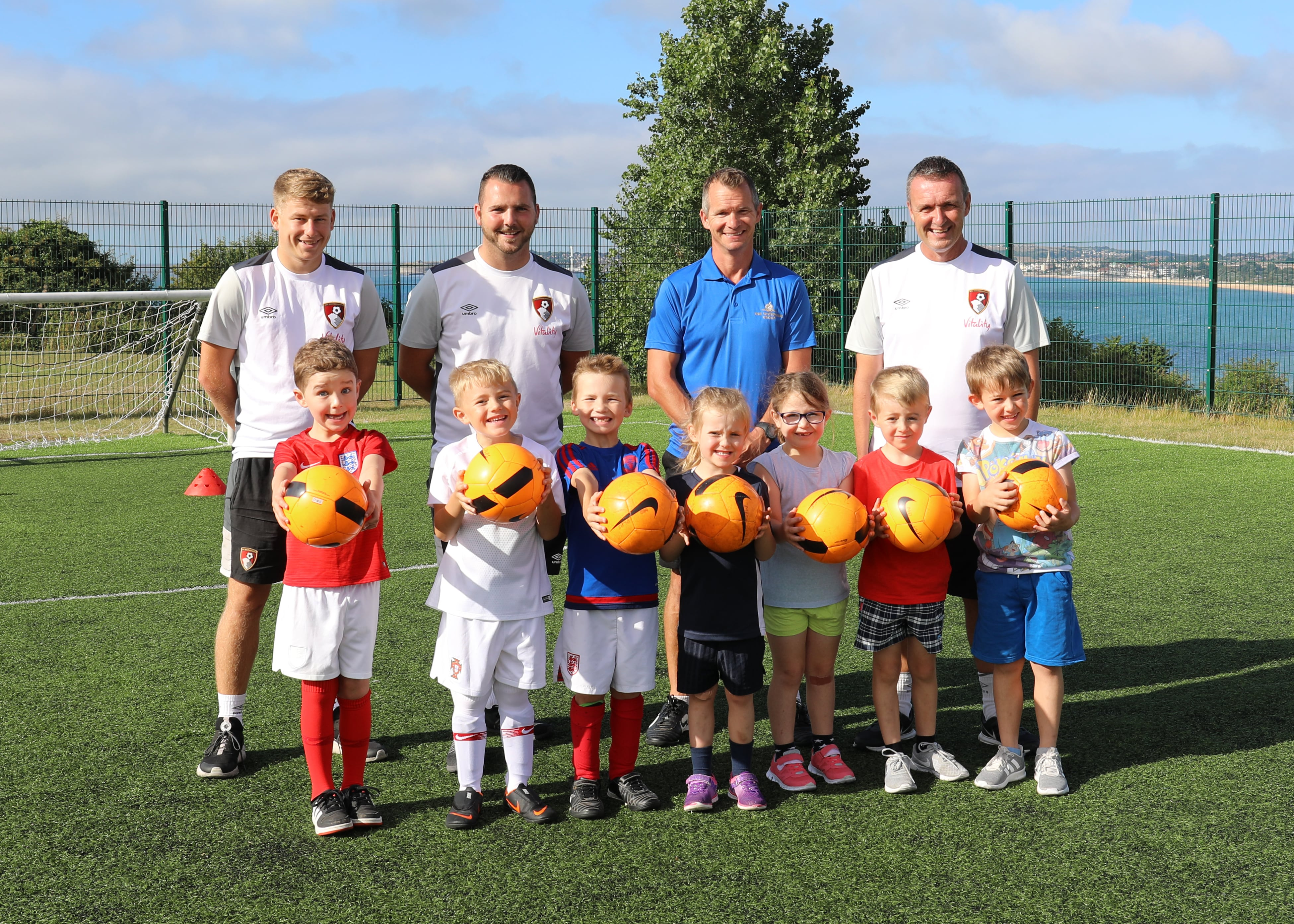 Two AFCB Coaches, Phil Hanger (Waterside) and Steve Cuss (AFCB) with a coaching session