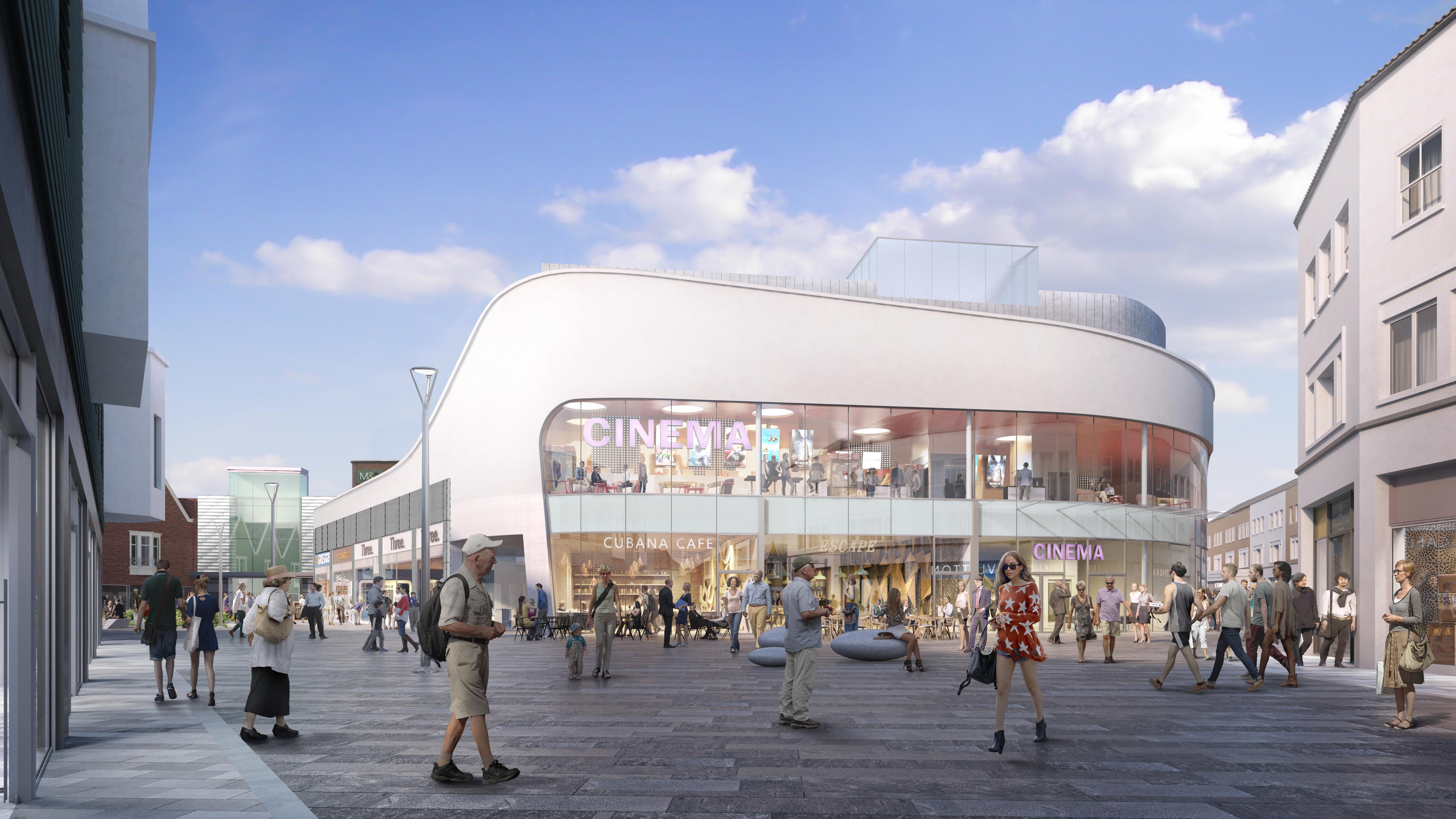 Planning permission granted for new cinema at Dolphin Shopping Centre
