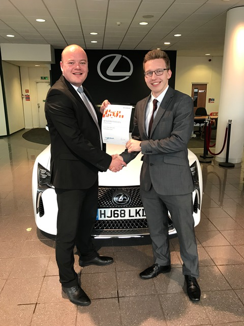 Marcus Cliffe and Benjamin Marsden from Westover's Lexus Poole