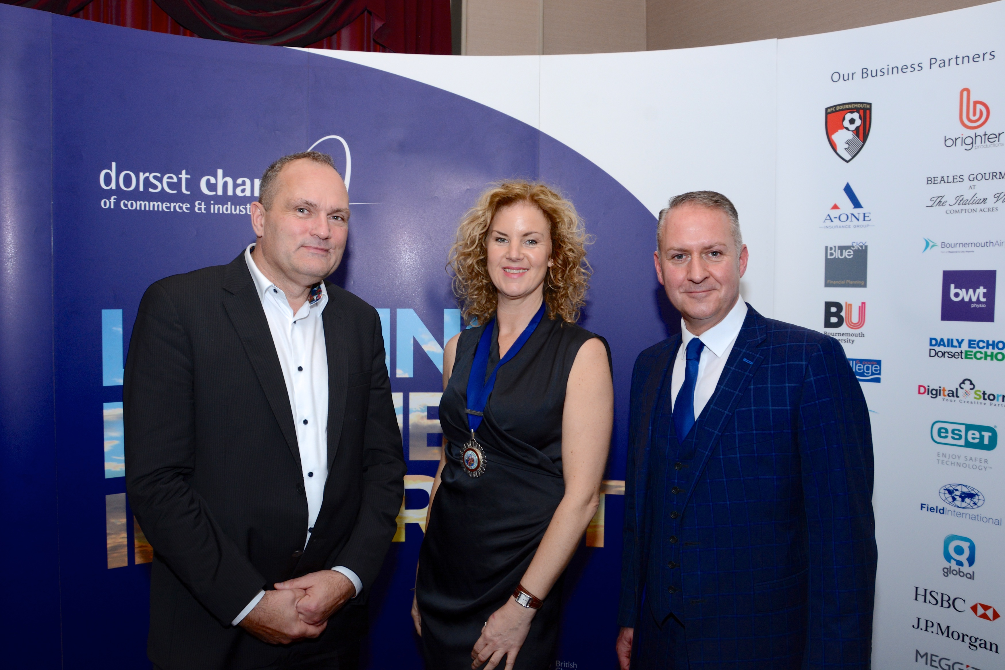 Paul Tansey, past president of DCCI, Liz Willingham, president of DCCI and Ian Girling, chief executive of DCCI