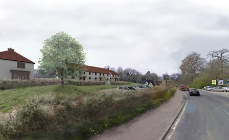Artist impression of the new housing development at the Bull Tavern in Sturminster Newton