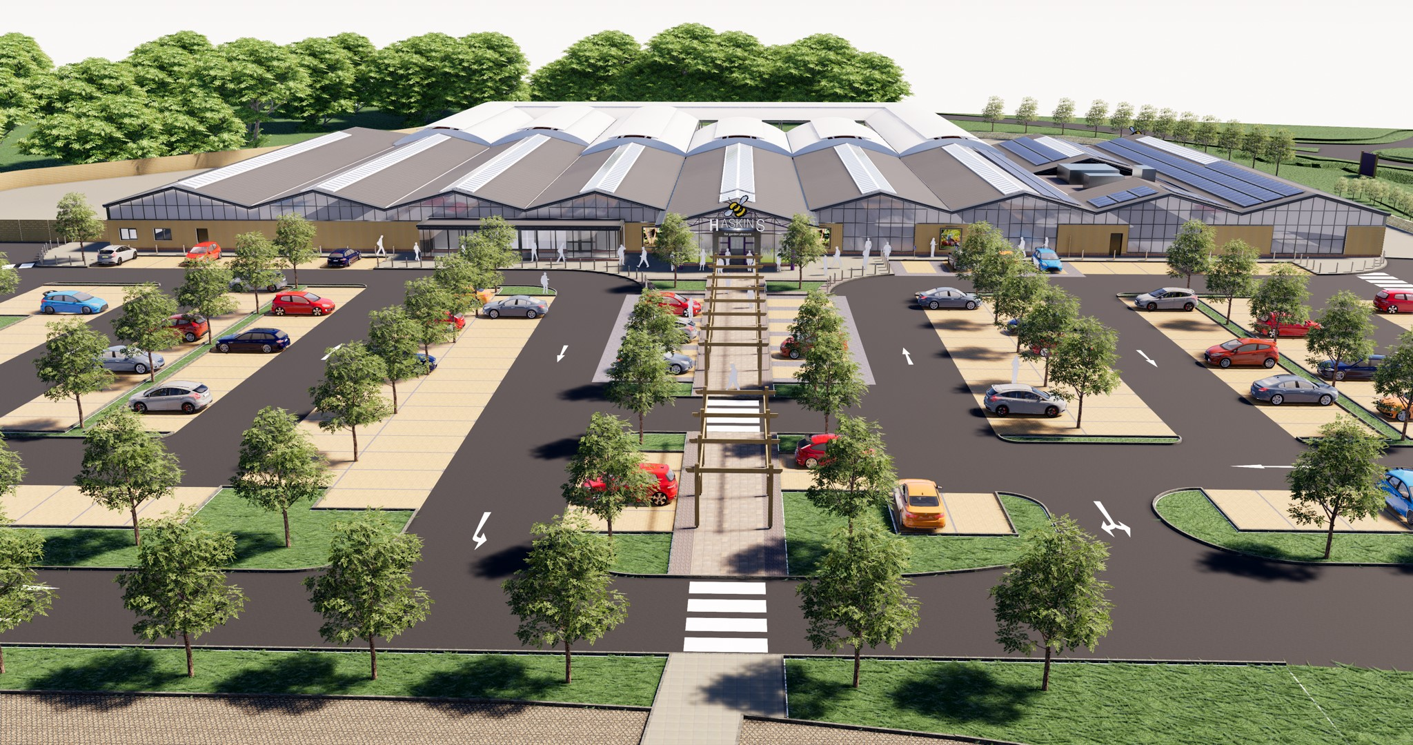 Haskins Garden Centre in Snowhill unveils plans for redevelopment - artist impression