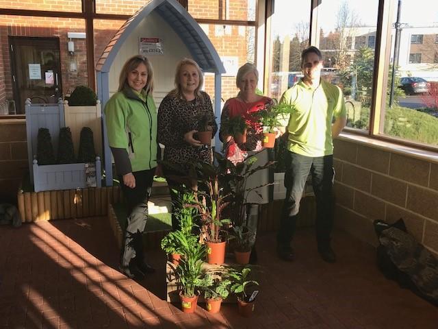 West End centre houseplant donation Mansbridge Primary School