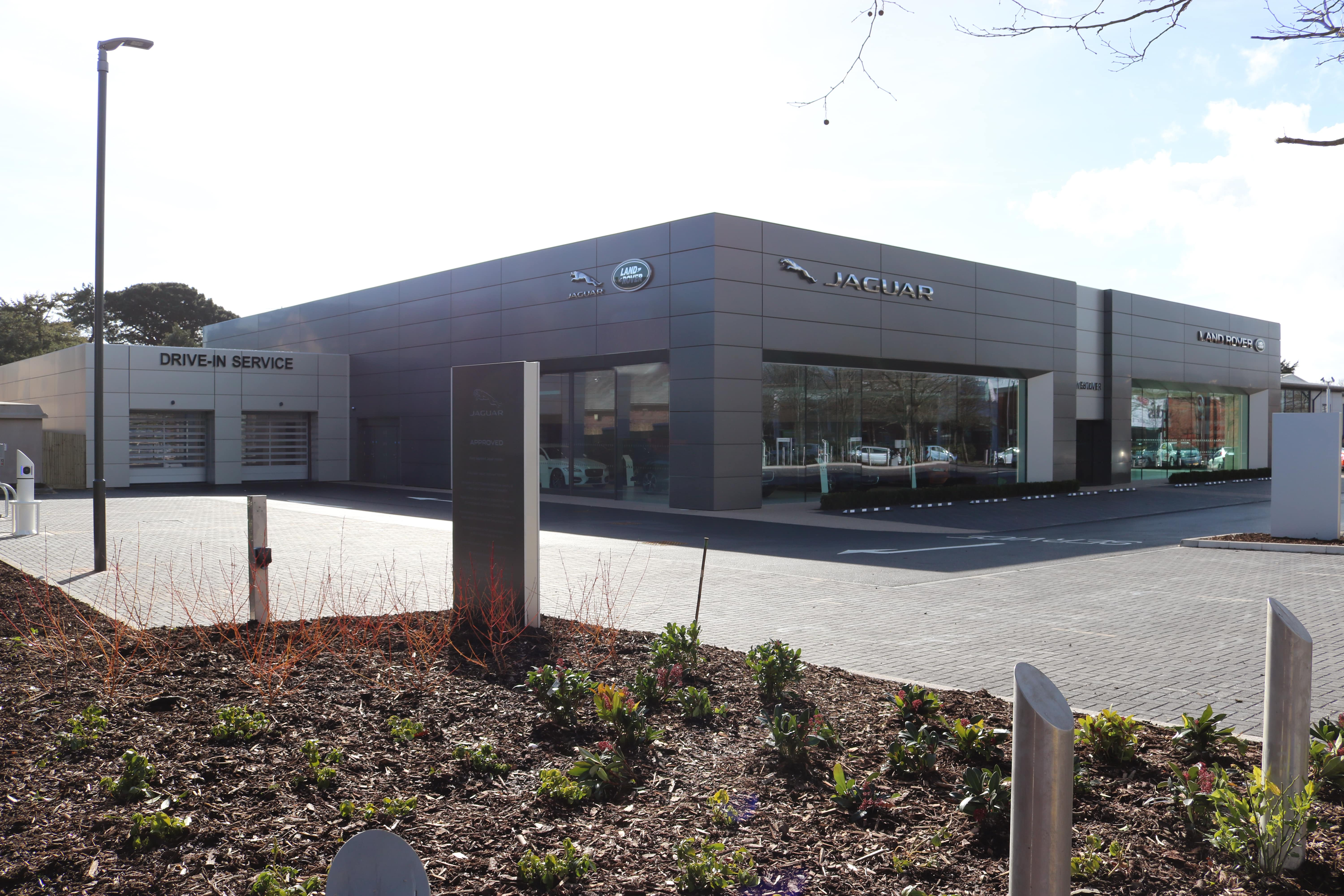 Westover JLR showroom in Christchurch-min