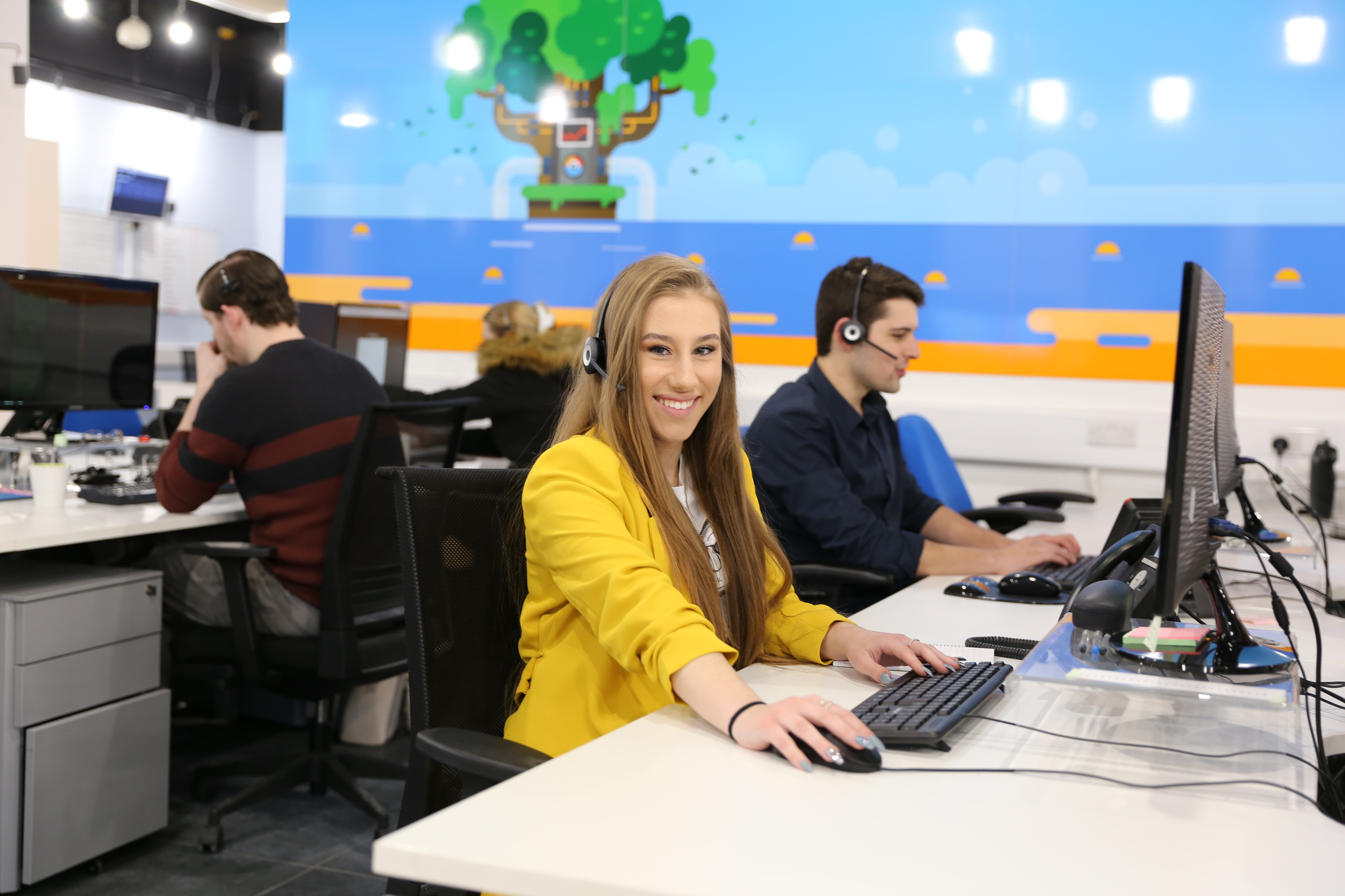 Emilie Brylak, part of the customer care team at DJS (UK) Limited
