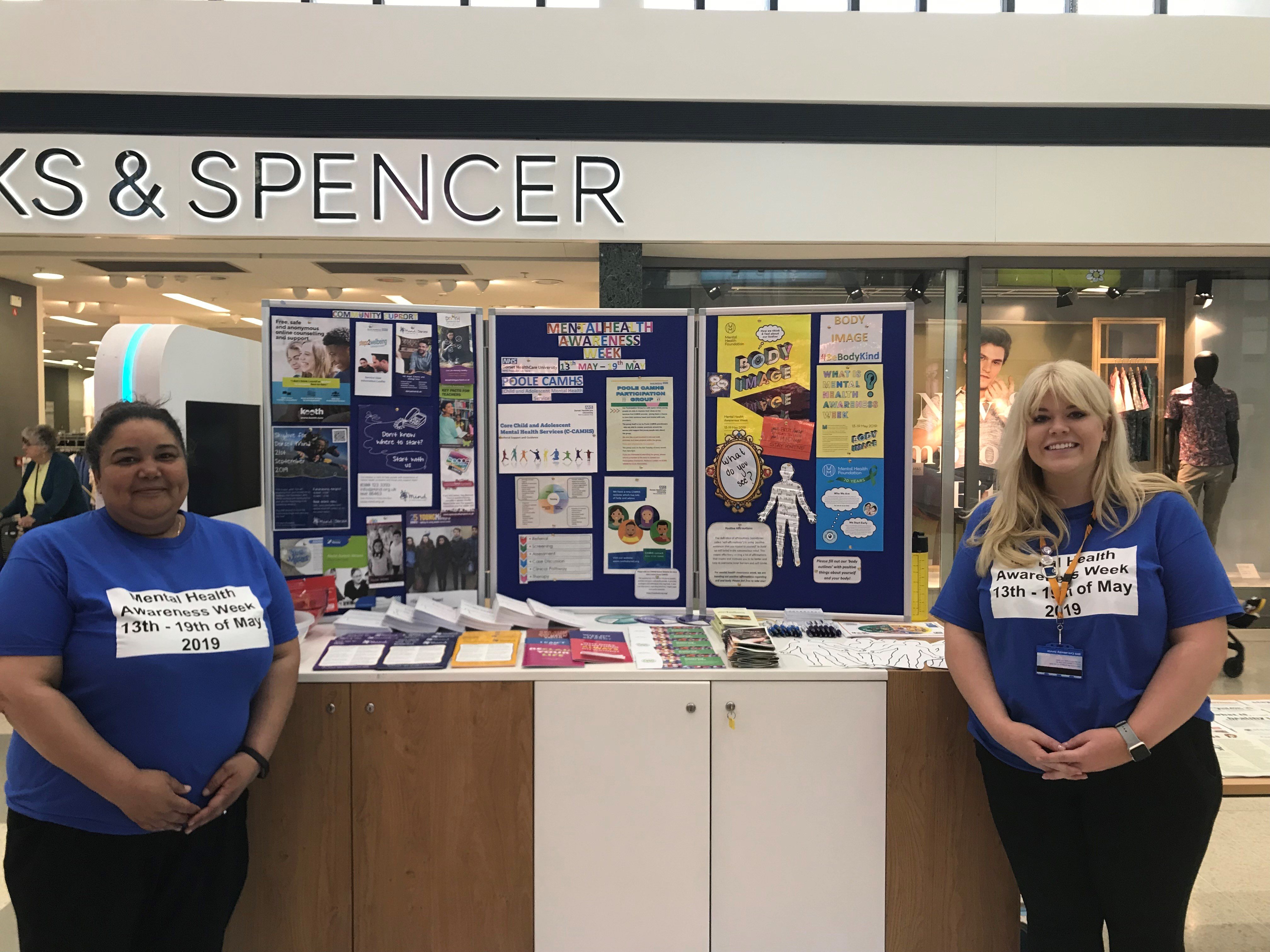 NHS at the Dolphin Shopping Centre for Mental Health Awareness Week