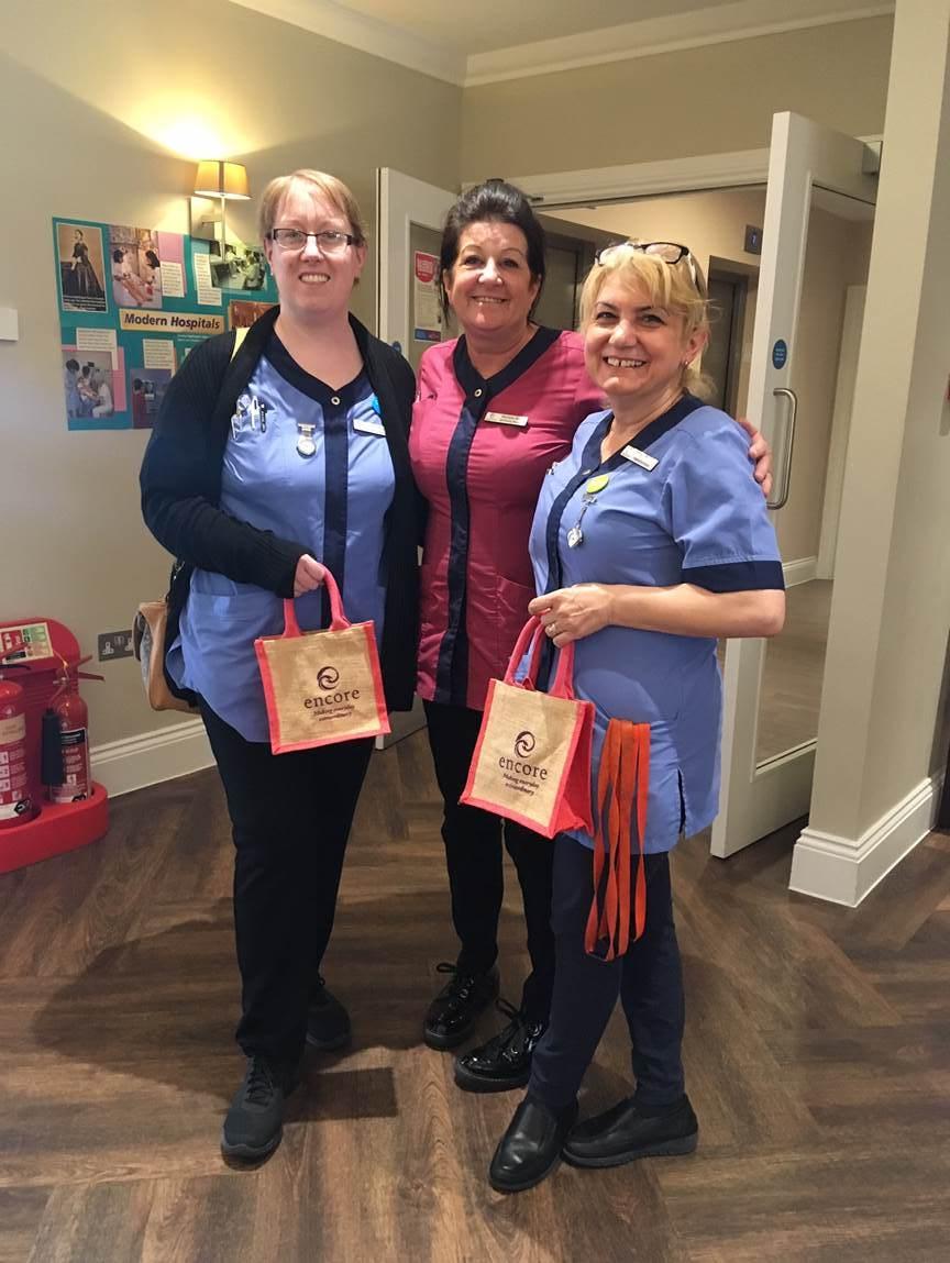 Stacey Jenkins, Michele Blake and Dana Popa enjoying International Nurses Day