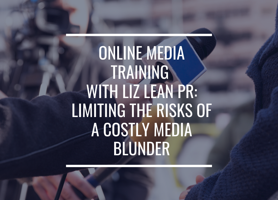 Media Training with Liz Lean PR: limiting the risks of a costly media blunder